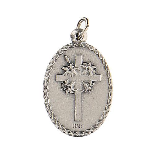 Medalla ovalada con Padre Pío 2,5 cm zamak 2