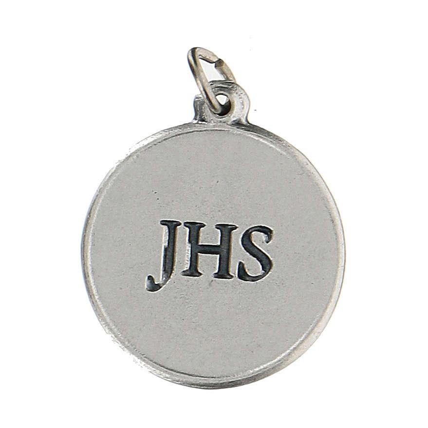 Medalla redonda con Cáliz IHS 1,5 cm zamak 4