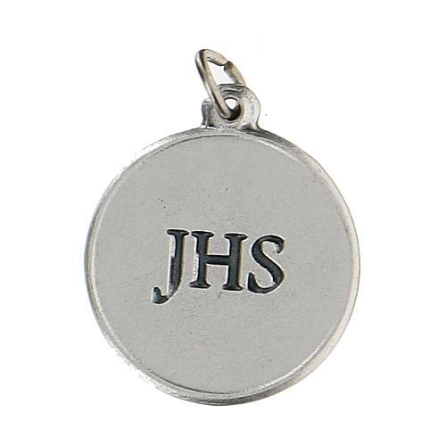 Medalla redonda con Cáliz IHS 1,5 cm zamak 2