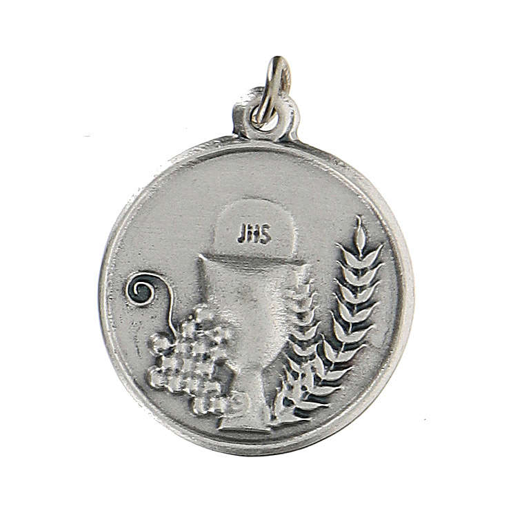 Médaille ronde avec Calice IHS 1,5 cm zamak 4