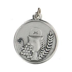 Médaille ronde avec Calice IHS 1,5 cm zamak s1