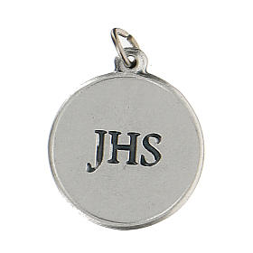Médaille ronde avec Calice IHS 1,5 cm zamak s2