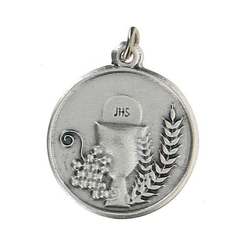 Médaille ronde avec Calice IHS 1,5 cm zamak 1