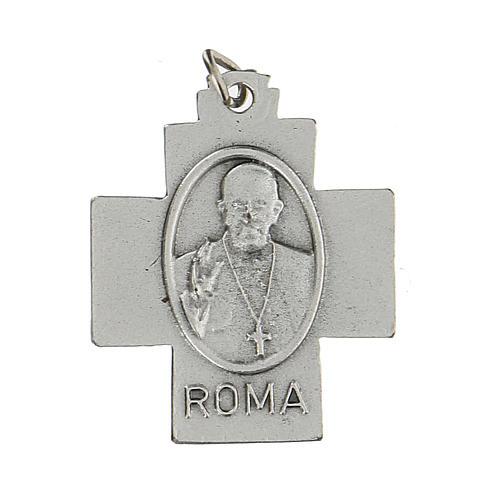 Croce Pax Papa Francesco a medaglia 2,5 cm zama 2