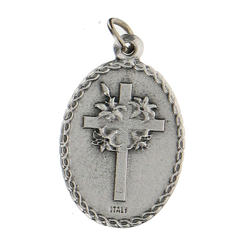 Medalla ovalada con San Francisco de Asís y el lobo 2,5 cm 4