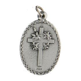 Medalla ovalada con San Francisco de Asís y el lobo 2,5 cm s2