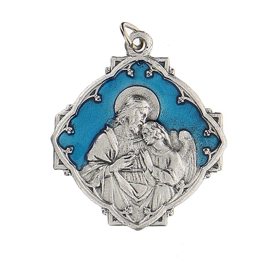 Medaglietta Prima Comunione Gesù l' Angelo smaltata 3 cm 4