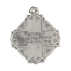 Medaglietta Prima Comunione Gesù l' Angelo smaltata 3 cm s2