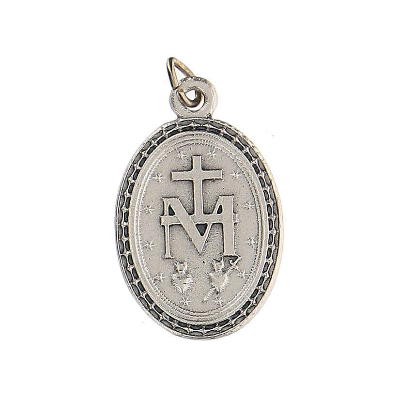 Medalla azul con Virgen Milagrosa 2,5 cm zamak 4