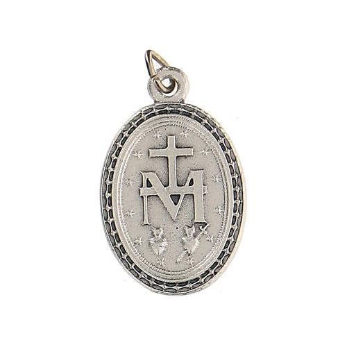 Medalla azul con Virgen Milagrosa 2,5 cm zamak 2