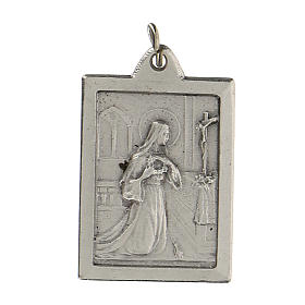 Santa Rita Protégeme medalla rectangular 2,5 cm s1