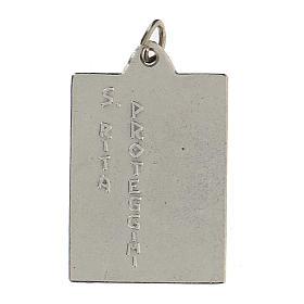 Santa Rita Protégeme medalla rectangular 2,5 cm s2