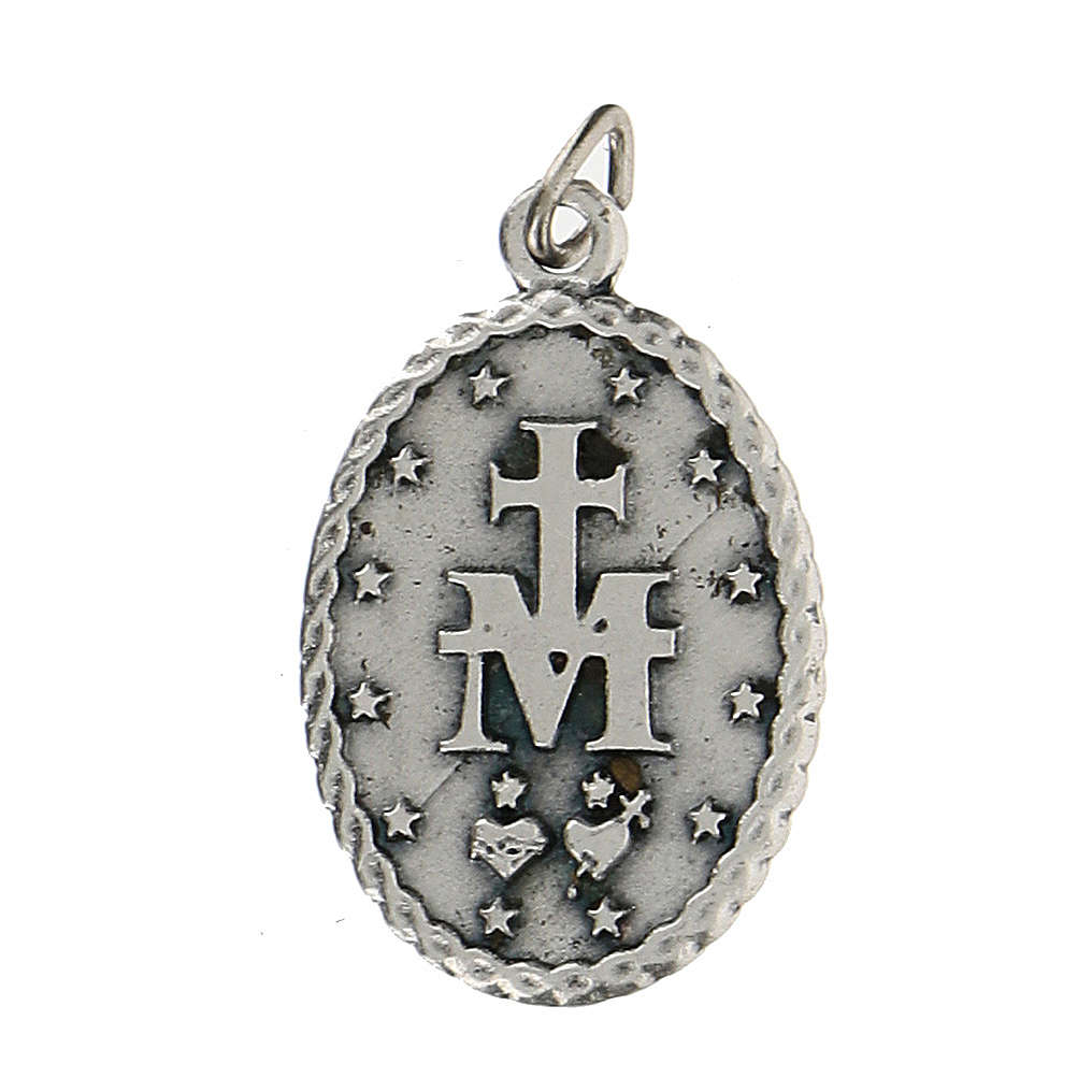 Médaille ovale avec bord corde Vierge Miraculeuse 2,5 cm 4