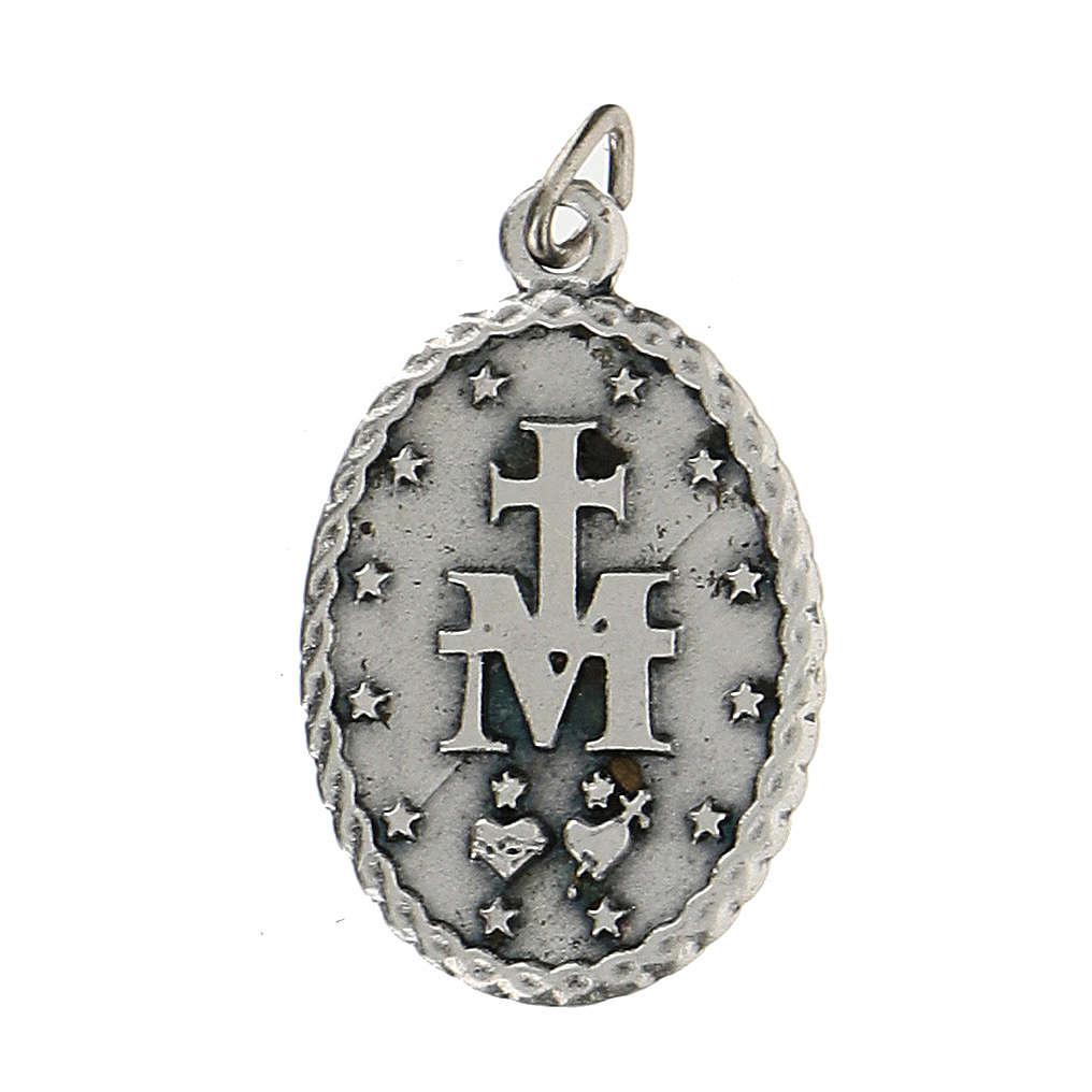 Medaglietta ovale con bordo cordato Madonna Miracolosa 2,5 cm 4