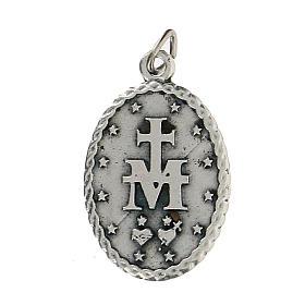 Medaglietta ovale con bordo cordato Madonna Miracolosa 2,5 cm s2