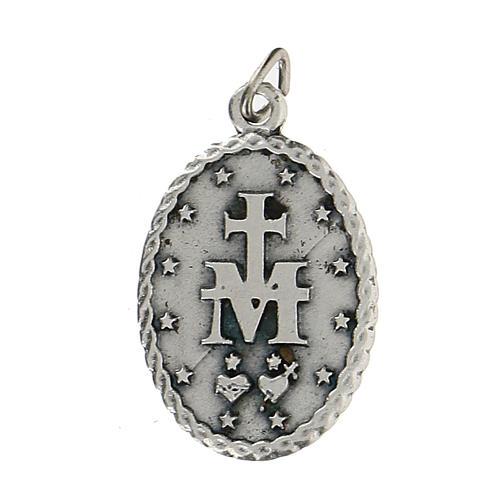 Medaglietta ovale con bordo cordato Madonna Miracolosa 2,5 cm 2