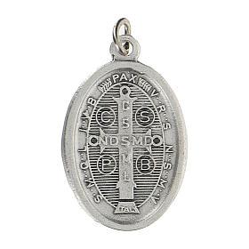 Medaglietta San Benedetto con bordo cordato 2,5 cm zama s2