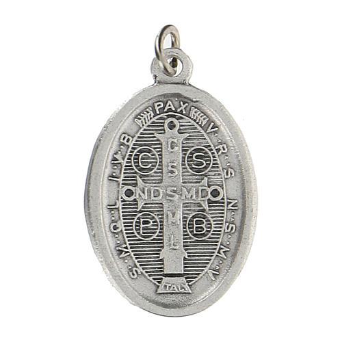 Medaglietta San Benedetto con bordo cordato 2,5 cm zama 2