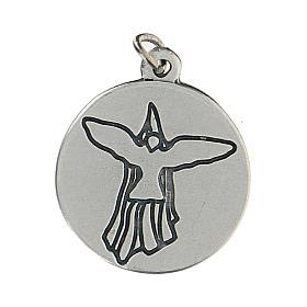 Medaglia tonda per Cresima con Spirito Santo 1,5 cm zama s2