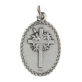 Medalla ovalada San Francisco de Asís y el lobo 2,5 cm s2