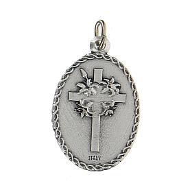 Medaglia smaltata con San Cristoforo con rilievo 2,5 cm s2