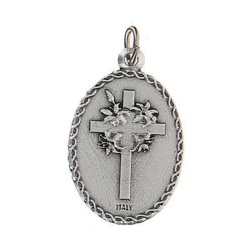 Medaglia smaltata con San Cristoforo con rilievo 2,5 cm 2