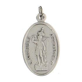 Medaglietta San Michele Arcangelo Madonna Miracolosa 2,5 cm s1