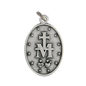 Medalla ovalada de metal Virgen Milagrosa 2,5 cm zamak s2