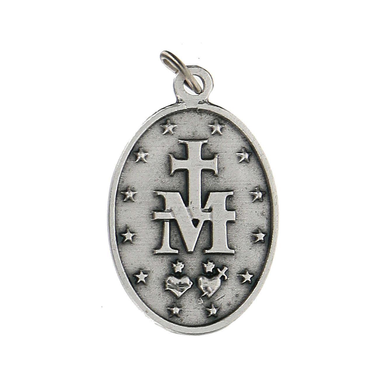 Medaglia ovale in metallo Madonna Miracolosa 2,5 cm zama 4