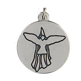 Medalla esmaltada redonda Confirmación con Espíritu Santo 1,5 cm zamak s2