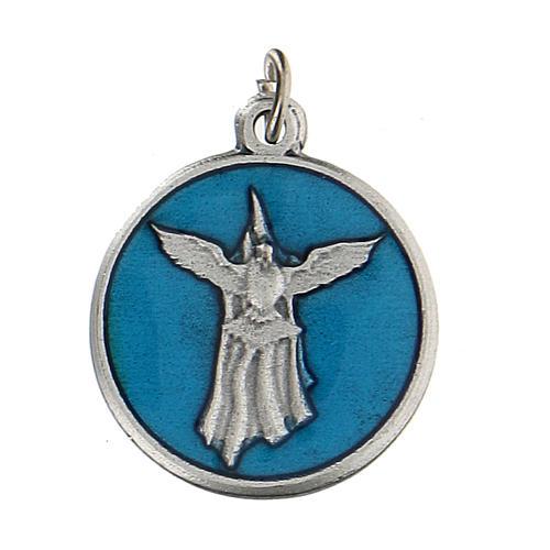 Medalla esmaltada redonda Confirmación con Espíritu Santo 1,5 cm zamak 1