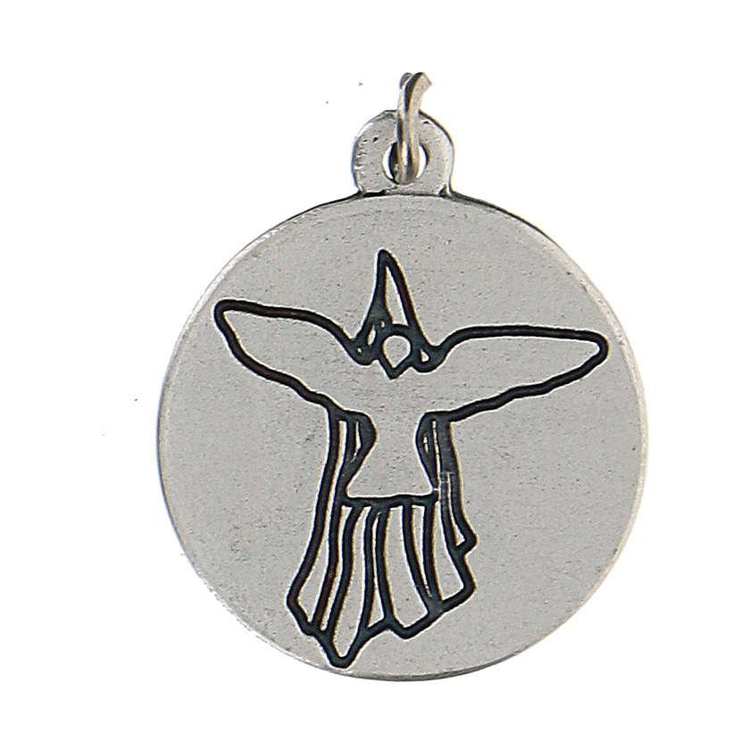 Medaglia smaltata tonda Cresima con Spirito Santo 1,5 cm zama 4
