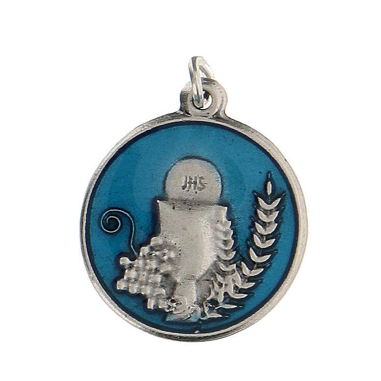 Medalla redonda esmaltada con Cáliz IHS 1,5 cm zamak 4
