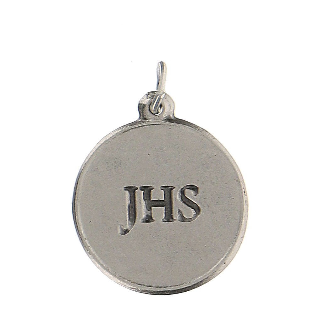 Medaglietta tonda smaltata con Calice IHS 1,5 cm zama 4