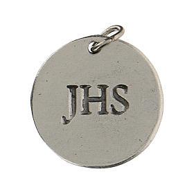 Medalla redonda Cáliz IHS para Primera Comunión 1,5 zamak s2