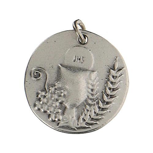 Medalla redonda Cáliz IHS para Primera Comunión 1,5 zamak 1