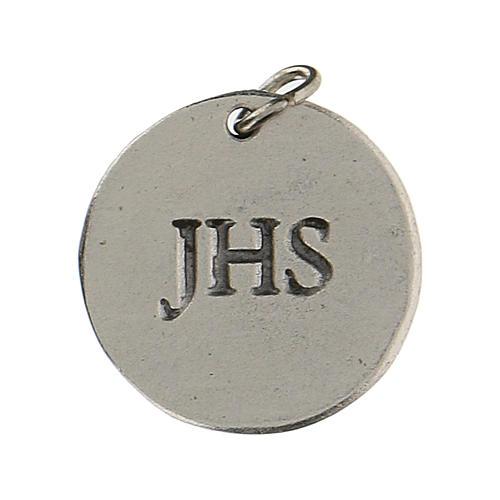 Medalla redonda Cáliz IHS para Primera Comunión 1,5 zamak 2