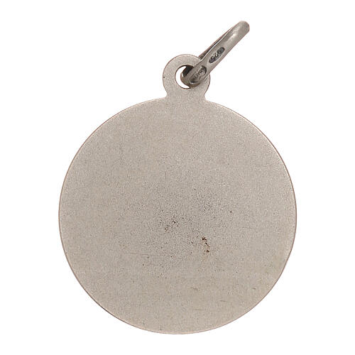 Medaglietta Santa Rita 2 cm in argento 800 2