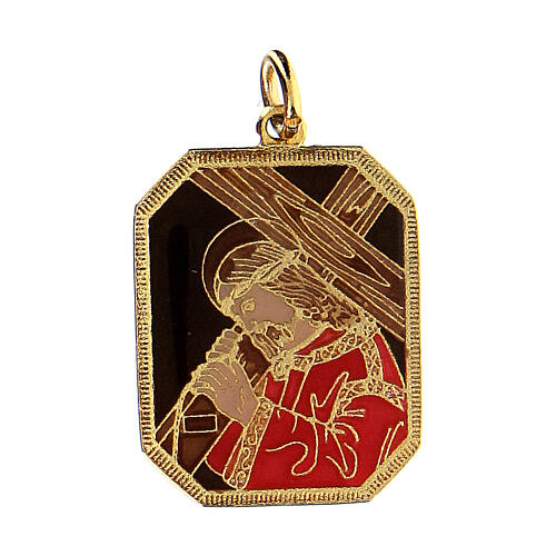 Christ carrying the cross pendant 1