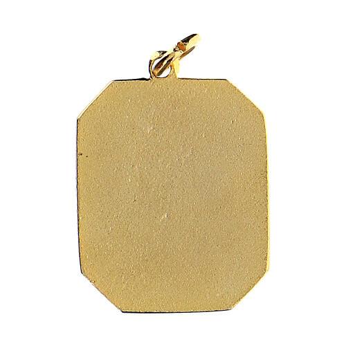 Medalla esmaltada Padre Pío 2