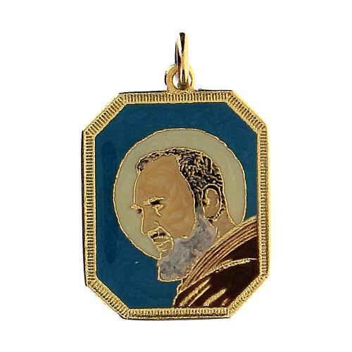 Medaglietta smaltata Padre Pio 1