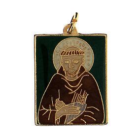 Zawieszka Święty Franciszek emaliowana s1