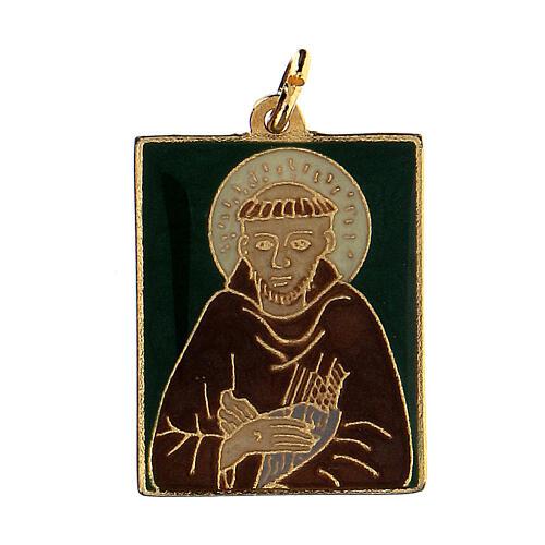 Zawieszka Święty Franciszek emaliowana 1