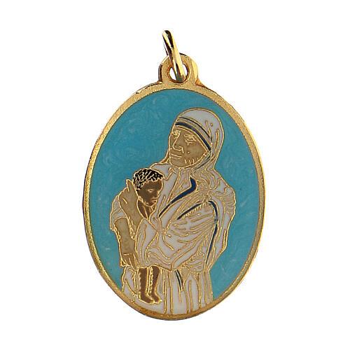 St Mother Teresa medal, enameled 1