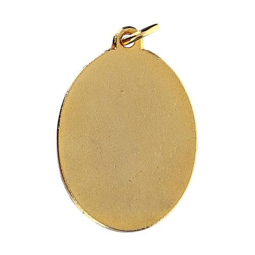 St Mother Teresa medal, enameled 2