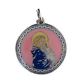 Medaglietta turchese Madonna con Bambino s1