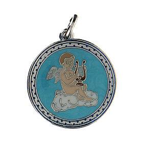 Médaille émaillée avec ange s1