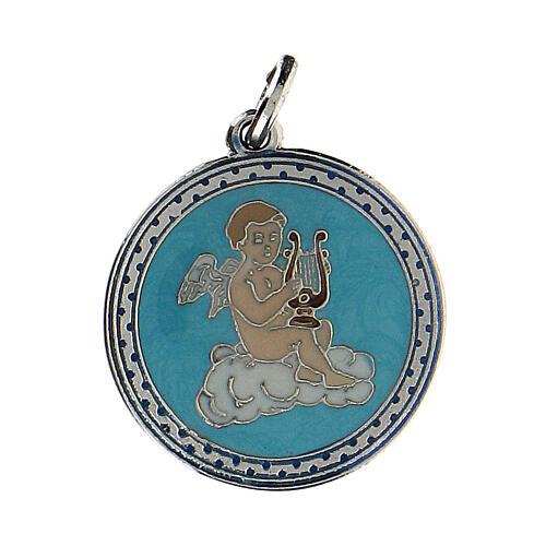 Medalik emaliowany z Aniołem 1