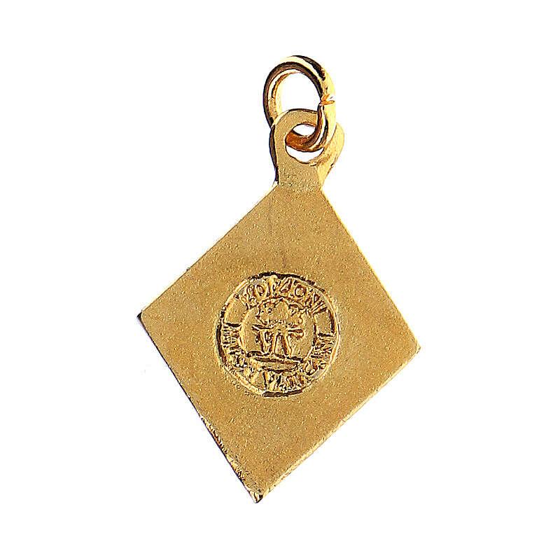 Little angel rhombus medal, enameled 4