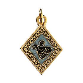Little angel rhombus medal, enameled s1